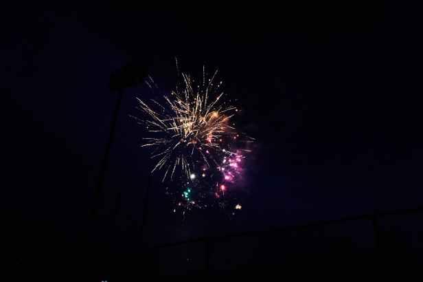 low angle photo of fireworks display